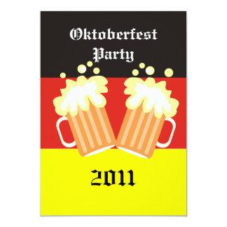 Invitaciones del fiesta de Oktoberfest Invitación 12,7 X 17,8 Cm