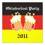 Invitaciones del fiesta de Oktoberfest Comunicados