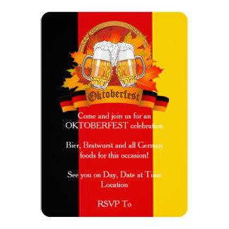 Invitaciones del fiesta de Oktoberfest del Invitación 12,7 X 17,8 Cm