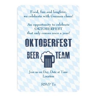 Invitaciones del fiesta de Oktoberfest del equipo Invitación 12,7 X 17,8 Cm