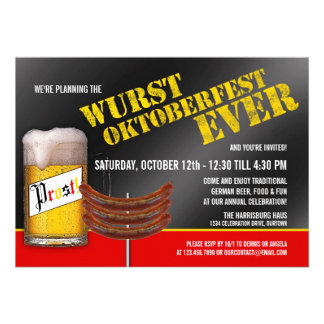 Invitaciones del fiesta de Oktoberfest del Wurst Anuncios
