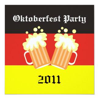 """Invitaciones del fiesta de Oktoberfest Invitación 5.25"""" X 5.25"""""""