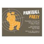 Invitaciones del fiesta de Paintball