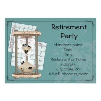 Invitaciones del fiesta de retiro anuncios
