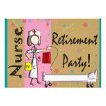 Invitaciones del fiesta de retiro de la enfermera comunicado