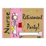 Invitaciones del fiesta de retiro de la enfermera comunicados