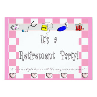 Invitaciones del fiesta de retiro de la ENFERMERA Comunicados Personalizados