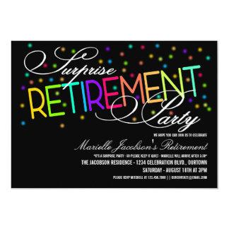 Invitaciones del fiesta de retiro de la sorpresa invitacion personalizada