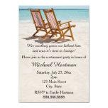 Invitaciones del fiesta de retiro de las sillas de anuncio personalizado
