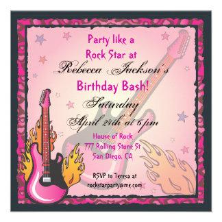 Invitaciones del fiesta de RockStar Invitaciones Personalizada