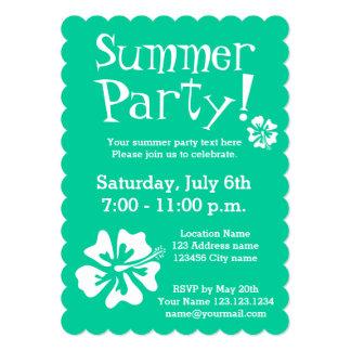 Invitaciones del fiesta de verde menta con diseño invitación 12,7 x 17,8 cm