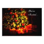 Invitaciones del fiesta del árbol de navidad invitación 12,7 x 17,8 cm