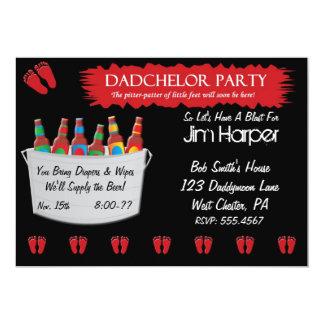 Invitaciones del fiesta del barrilete del pañal de invitacion personal