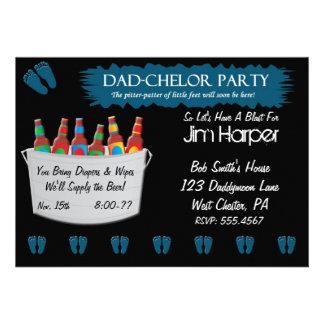 Invitaciones del fiesta del barrilete del pañal de invitación