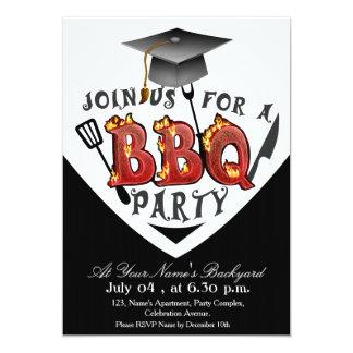 Invitaciones del fiesta del Bbq de la graduación Invitación 12,7 X 17,8 Cm