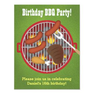 Invitaciones del fiesta del Bbq del patio trasero Invitación 10,8 X 13,9 Cm