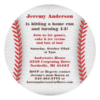 """Invitaciones del fiesta del béisbol invitación 5.25"""" x 5.25"""""""