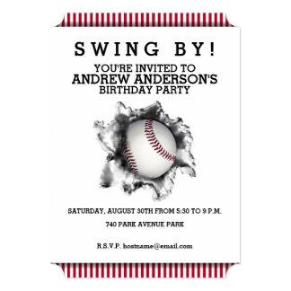 """invitaciones del fiesta del béisbol invitación 5"""" x 7"""""""