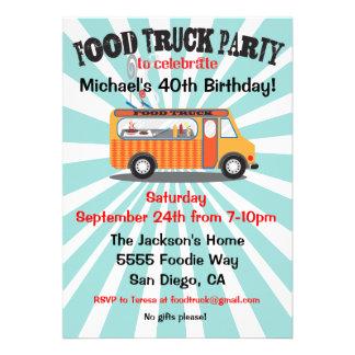 Invitaciones del fiesta del camión de la comida
