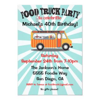 Invitaciones del fiesta del camión de la comida invitación personalizada