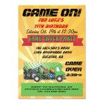 Invitaciones del fiesta del camión del juego invitación 12,7 x 17,8 cm