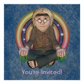 Invitaciones del fiesta del cuadrado de los años 6 invitación personalizada
