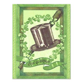 """¡Invitaciones del fiesta del día de St Patrick del Invitación 4.25"""" X 5.5"""""""