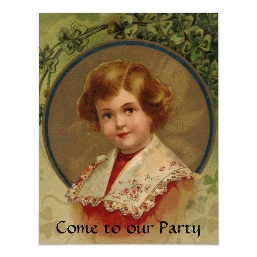 """¡Invitaciones del fiesta del día de St Patrick! Invitación 4.25"""" X 5.5"""""""