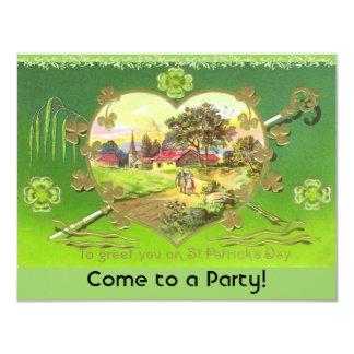 """¡Invitaciones del fiesta del día de St Patrick Invitación 4.25"""" X 5.5"""""""