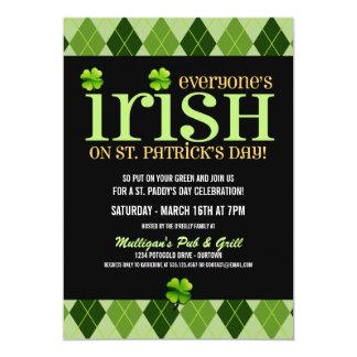 """Invitaciones del fiesta del día del St. Patricks Invitación 5"""" X 7"""""""