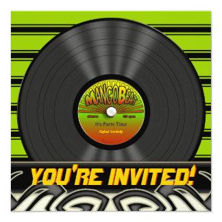 Invitaciones del fiesta del disco de vinilo del invitaciones personales