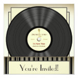Invitaciones del fiesta del disco de vinilo del invitacion personalizada