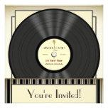 Invitaciones del fiesta del disco de vinilo del mi invitacion personalizada