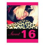 Invitaciones del fiesta del dulce 16 invitación 10,8 x 13,9 cm