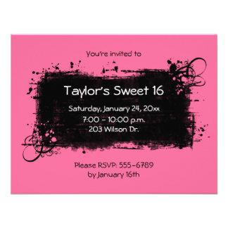 Invitaciones del fiesta del dulce 16 comunicados personalizados