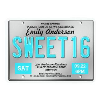 Invitaciones del fiesta del dulce 16 de la placa invitación 12,7 x 17,8 cm