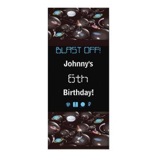 Invitaciones del fiesta del espacio invitación 10,1 x 23,5 cm