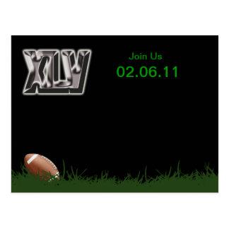 Invitaciones del fiesta del fútbol de XLV Postales