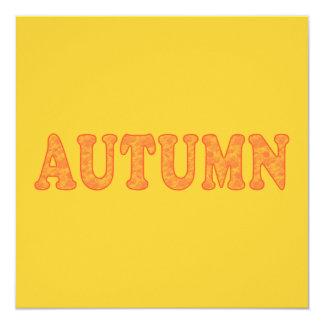 Invitaciones del fiesta del otoño invitación 13,3 cm x 13,3cm