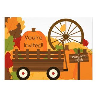 Invitaciones del fiesta del otoño del remiendo de  anuncio personalizado
