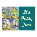 Invitaciones del fiesta del paraíso de las ranas invitación 12,7 x 17,8 cm
