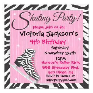 Invitaciones del fiesta del patinaje de hielo de l invitación