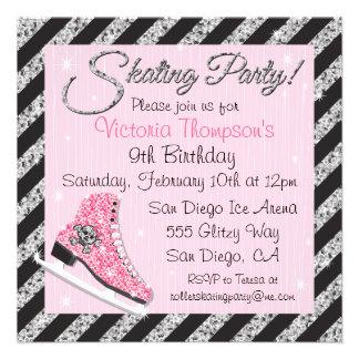Invitaciones del fiesta del patinaje de hielo del invitaciones personalizada