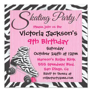 """Invitaciones del fiesta del patinaje sobre ruedas invitación 5.25"""" x 5.25"""""""