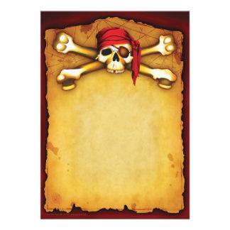 Invitaciones del fiesta del pirata invitación personalizada