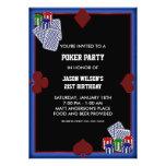 Invitaciones del fiesta del póker del cumpleaños d invitación