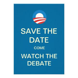 Invitaciones del fiesta del reloj del discusión de comunicados personales