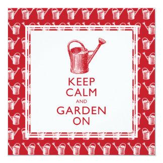 Invitaciones del fiesta del retiro del jardinero invitación 13,3 cm x 13,3cm