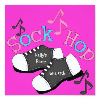 Invitaciones del fiesta del salto del calcetín invitación 13,3 cm x 13,3cm