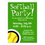Invitaciones del fiesta del softball para los invitación 12,7 x 17,8 cm